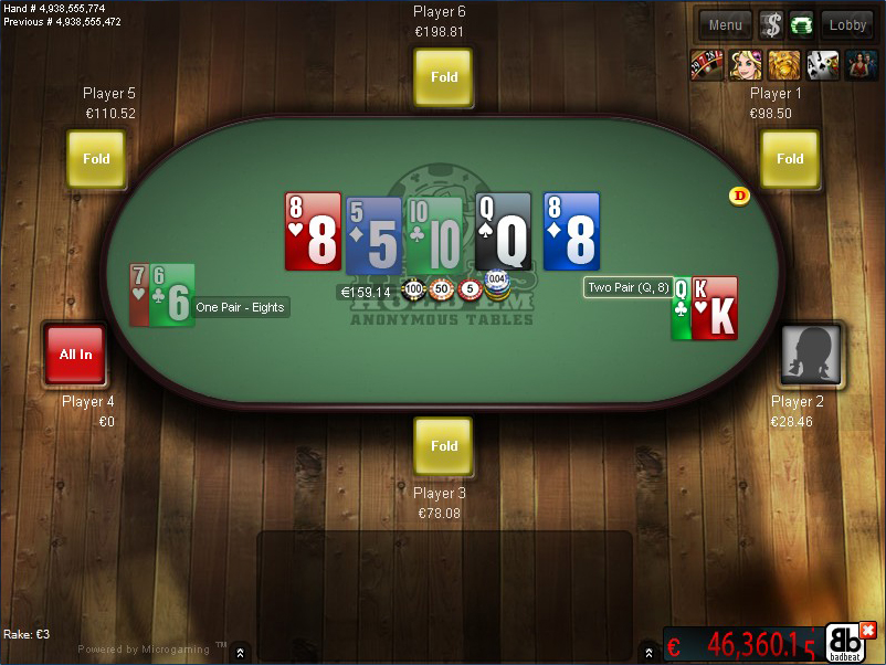 Poker two pair kicker