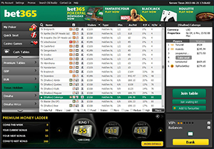 Bet365 Poker Sit and Go Lobby