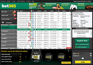 Bet365 Poker Tournament Lobby