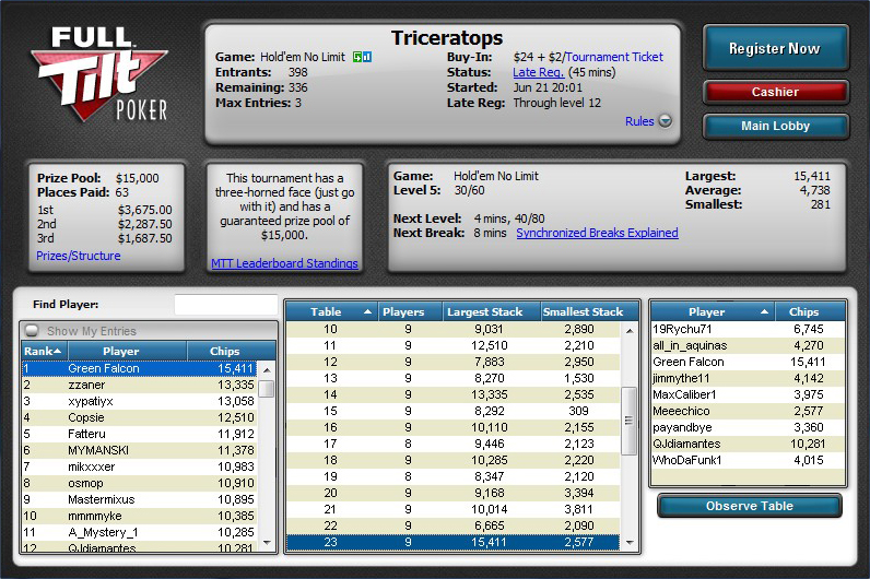 full tilt poker mac app