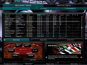 PKR Cash Game Lobby