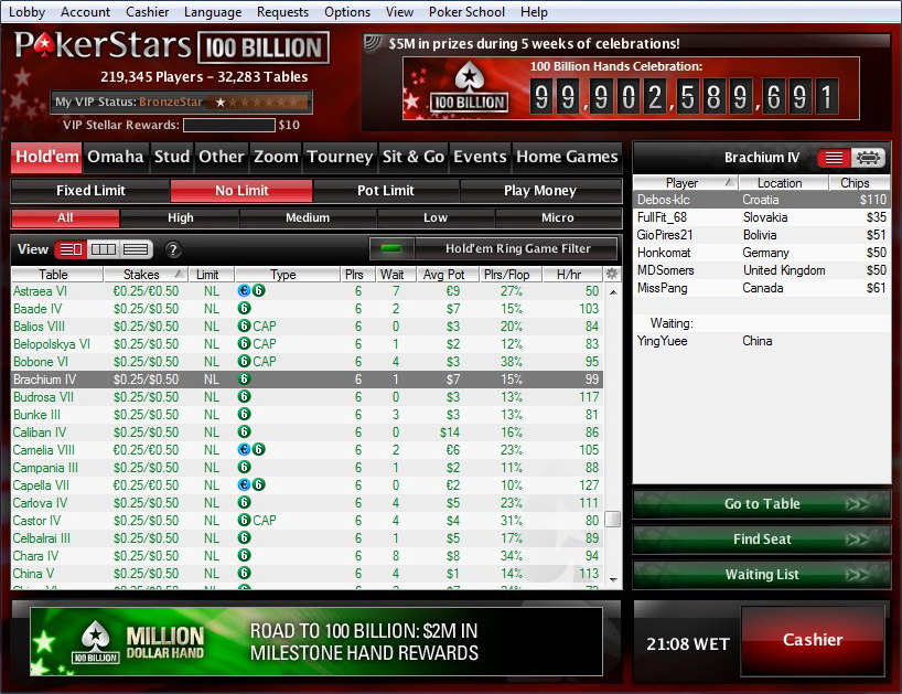 pokerstars online game