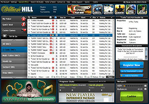 William Hill Poker Sit and Go Lobby