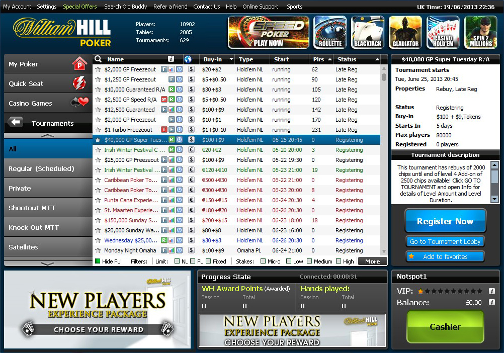 Poker strategy william hill